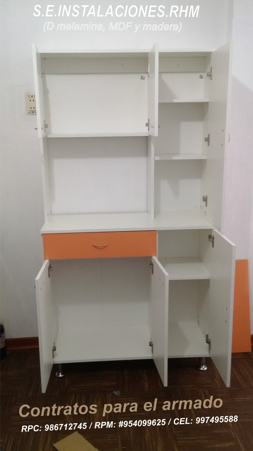 Armado de armarios de sodimac for Mueble cocina sodimac