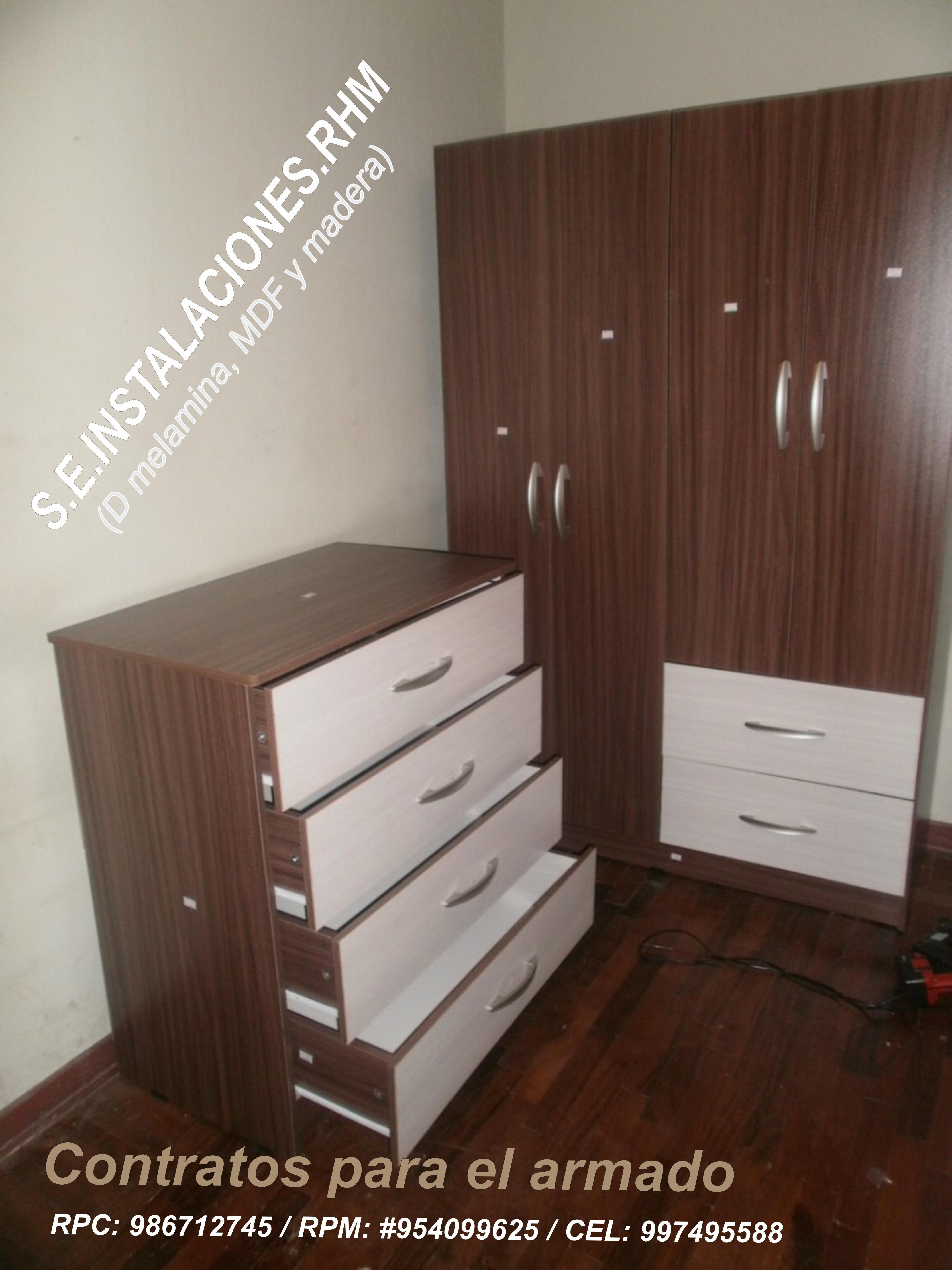 Armado de muebles de melamina de promart oechsle paris for Armado de muebles de cocina
