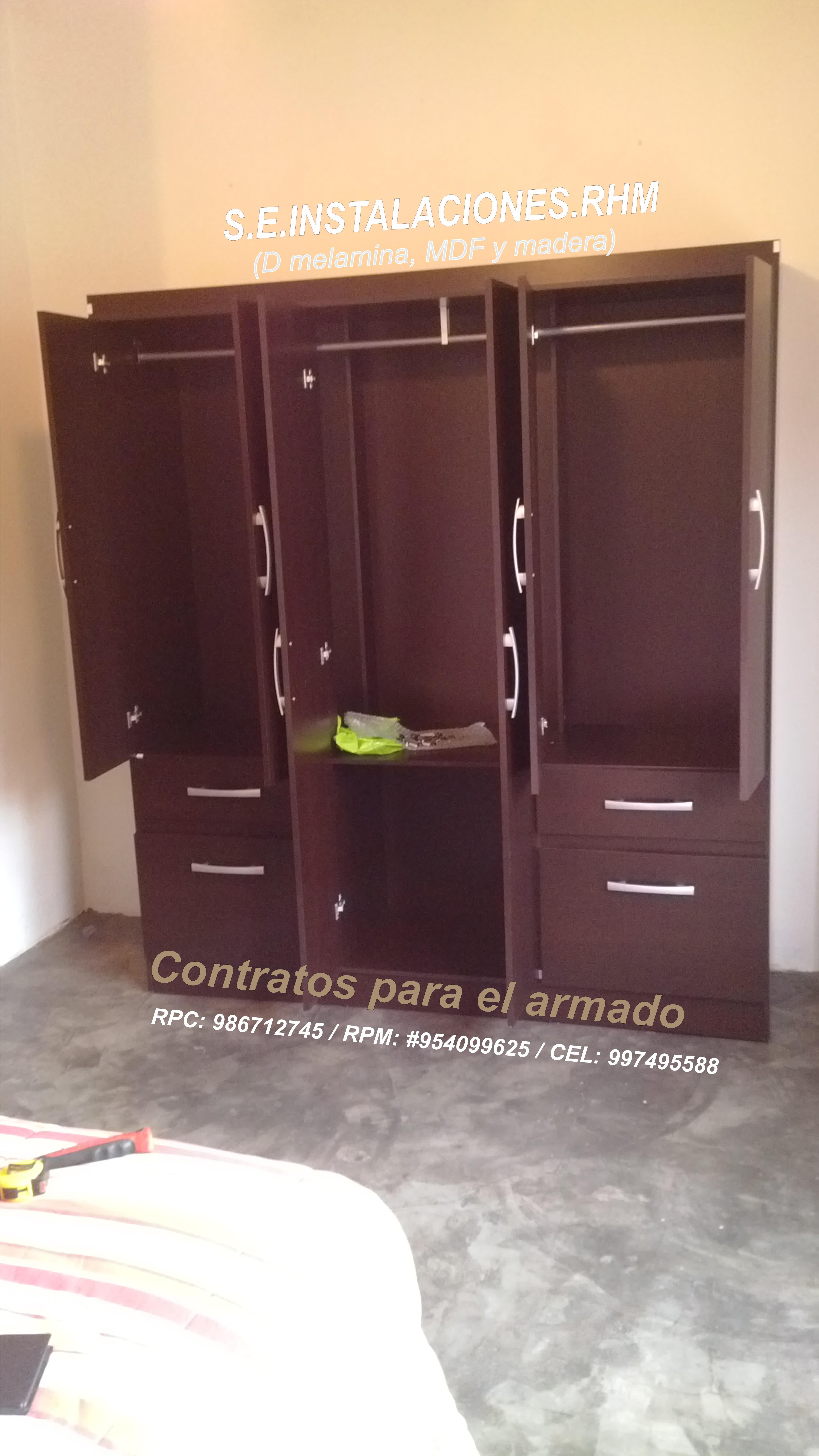 Desarmado de roperos de saga sodimac tottus for Roperos para dormitorios en lima