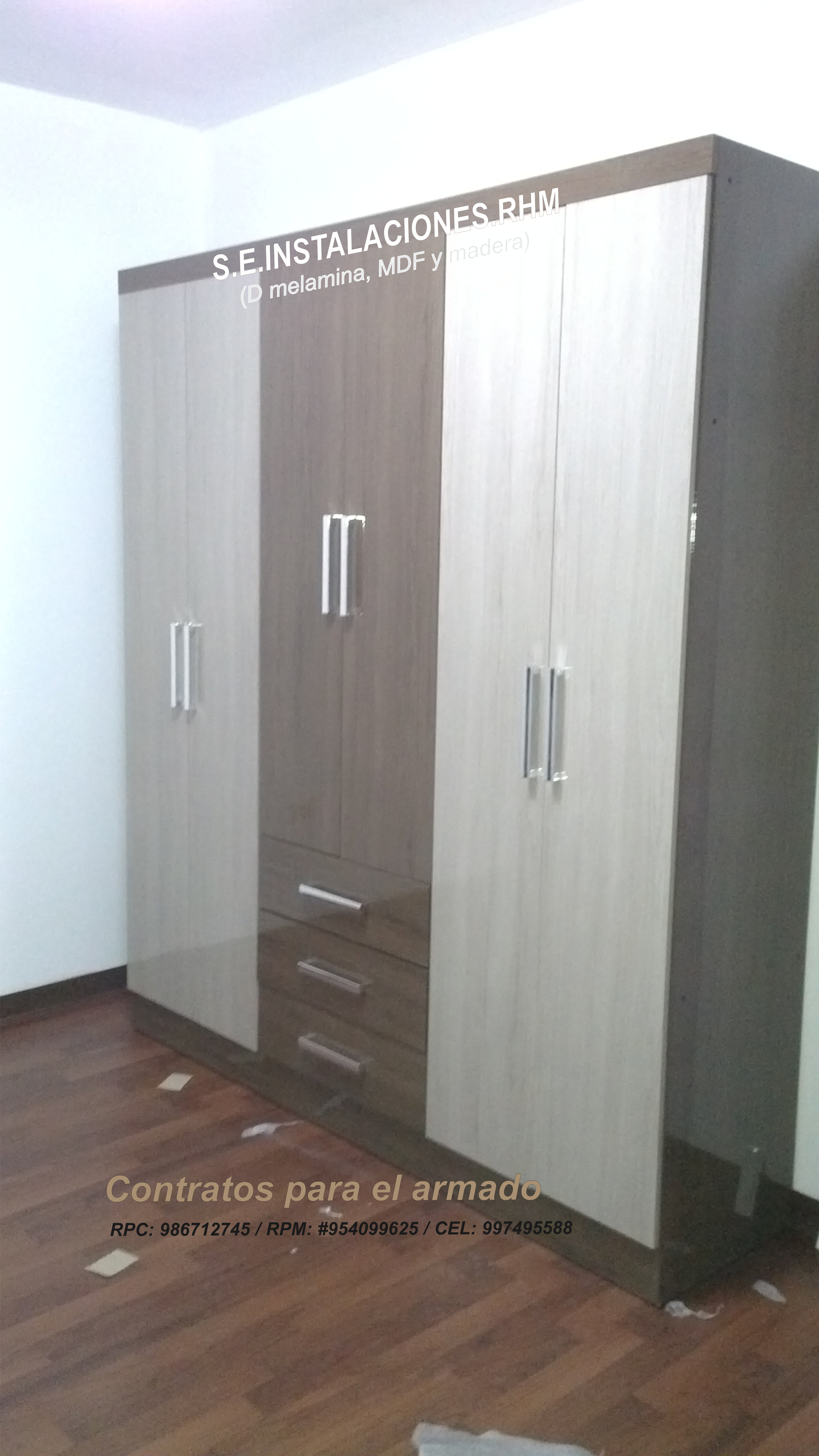 Armado de muebles de melamina de promart oechsle paris for Roperos de melamina para dormitorios