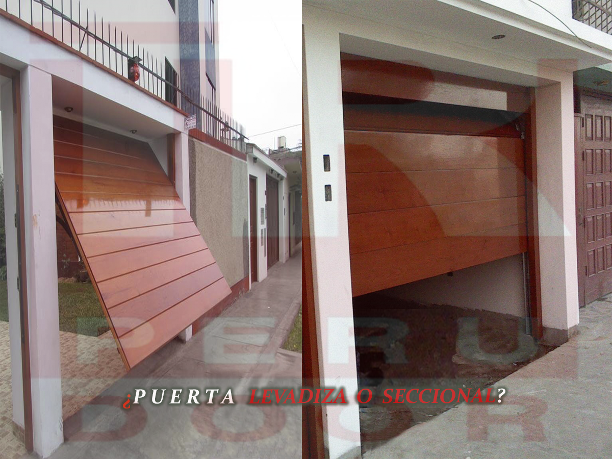 Puertas levadizas seccionales de garaje peru for Puerta garaje