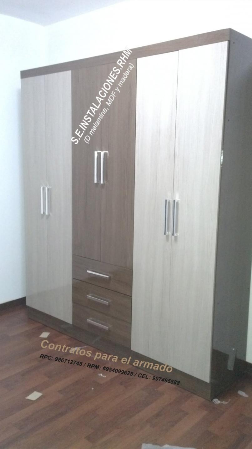 Armado de armarios de tottus for Puertas correderas sodimac